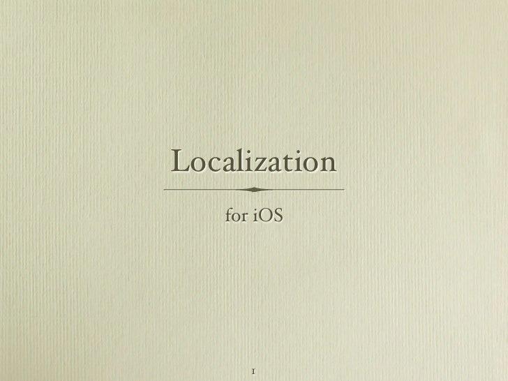 iOS Localization