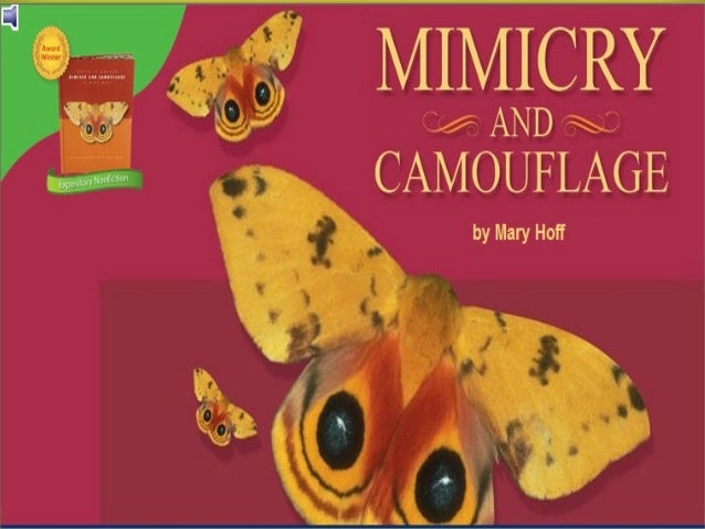 Mimicry and CamouflageLesson 11