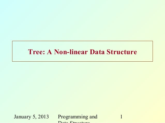 Tree: A Non-linear Data StructureJanuary 5, 2013   Programming and   1