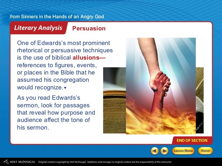 sinners in the hands of an angry god summary essay