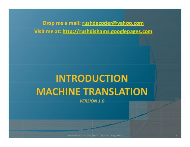 L1 l2 l3  introduction to machine translation