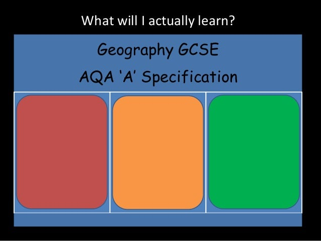 aqa geography coursework gcse