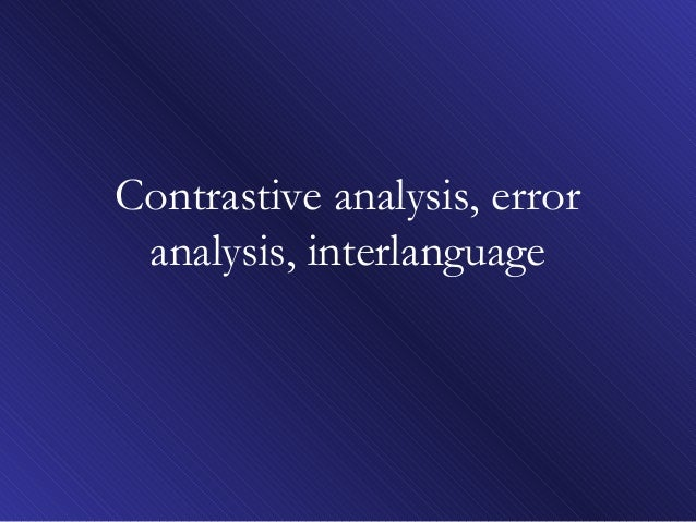 L2.error analysis