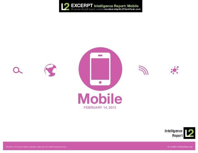 Excerpt Intelligence Report: Mobile                                                                                       ...