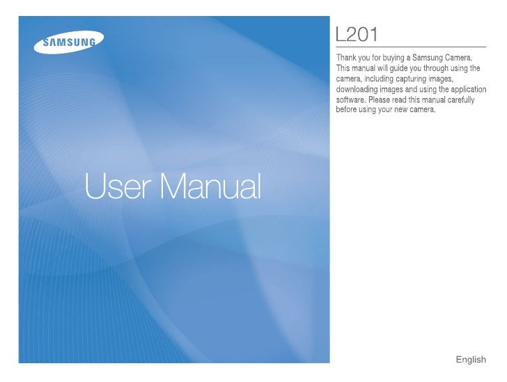 Samsung Camera L201 User Manual