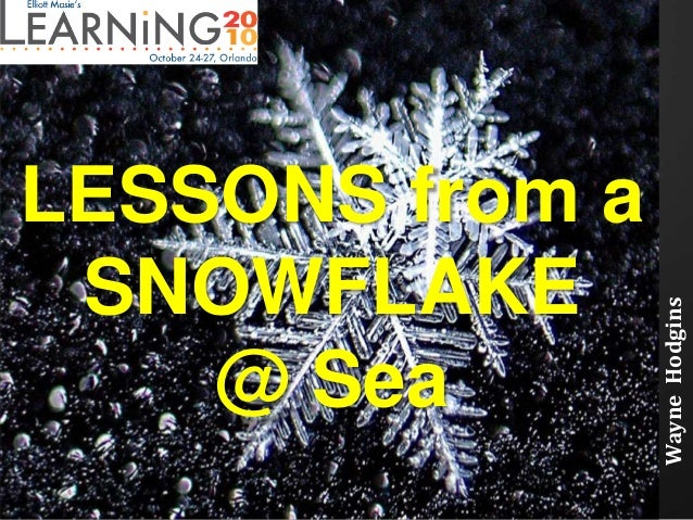 LESSONS from a SNOWFLAKE @ Sea WayneHodgins