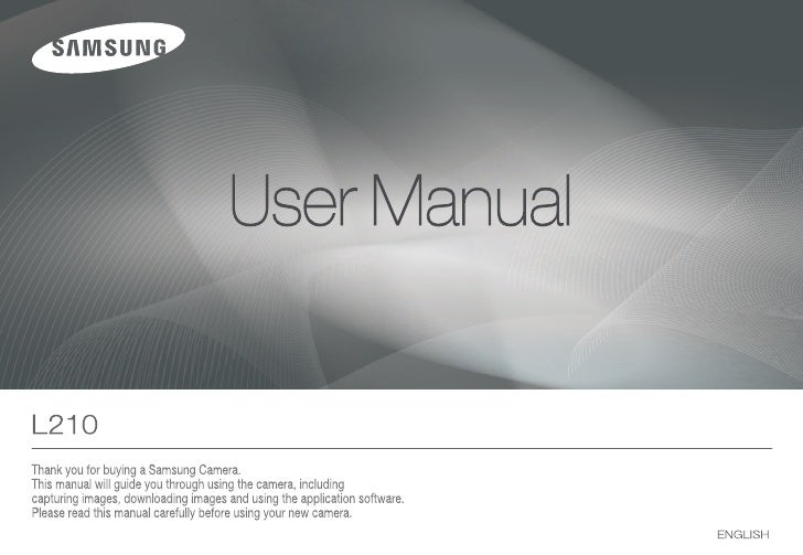 Samsung Camera L210 User Manual