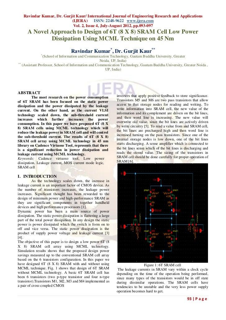 Ravindar Kumar, Dr. Gurjit Kaur/ International Journal of Engineering Research and Applications                           ...