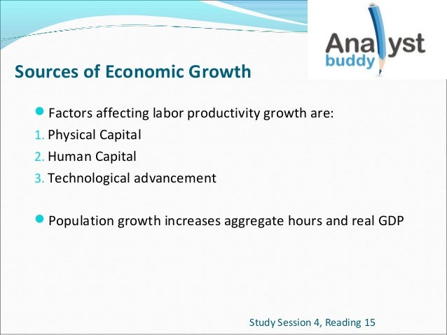 Sources of Economic Growth Factors affecting labor productivity growth are: 1. Physical Capital 2. Human Capital 3. Techn...