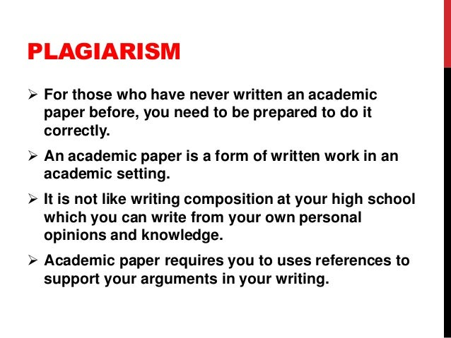 plagiarism research paper unethical because