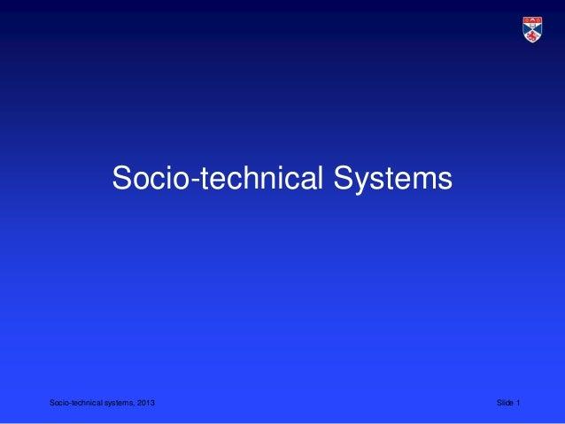 CS 5032 L3 socio-technical systems 2013