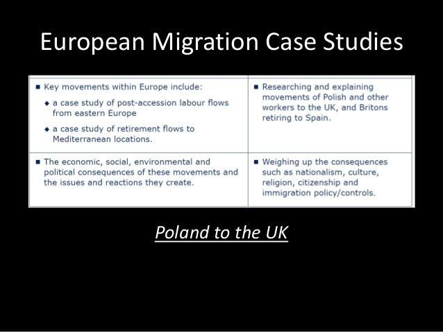 European Migration Case Studies Poland to the UK
