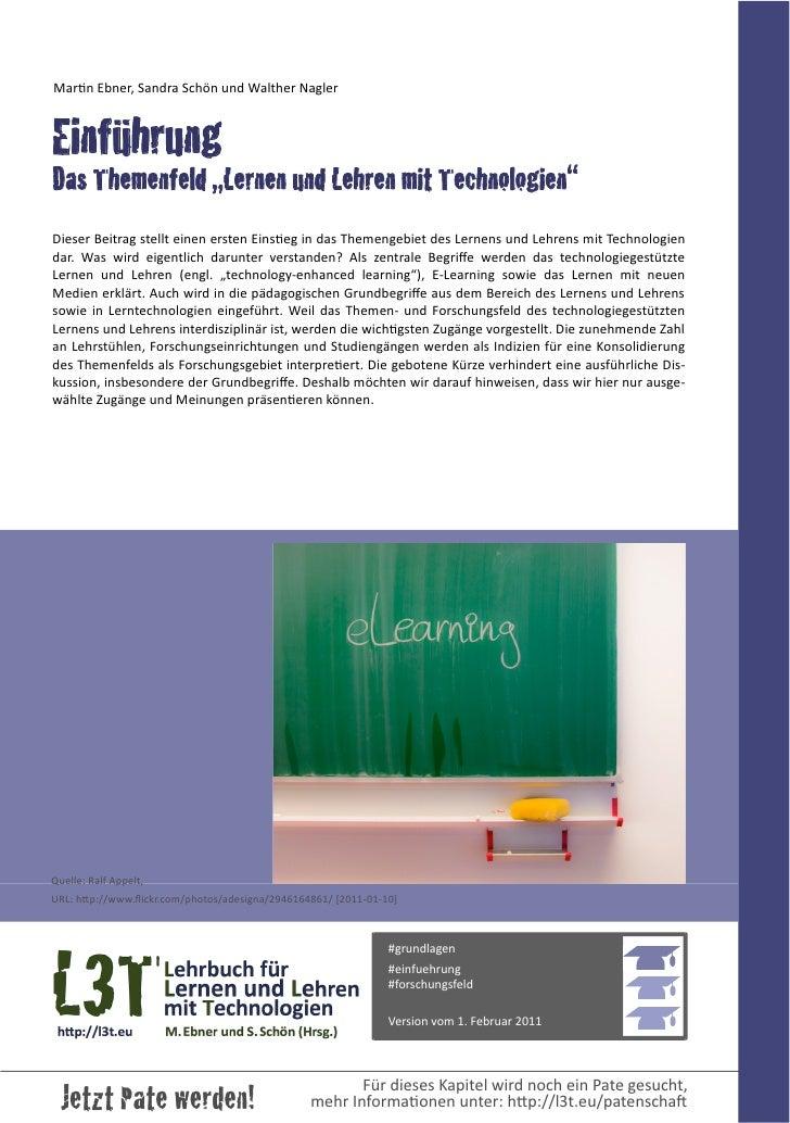 """Einführung - Das Themenfeld """"Lernen und Lehren mit Technologien"""""""