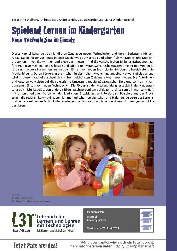 Lernen und Spielen im Kindergarten - Neue Technologien im Einsatz