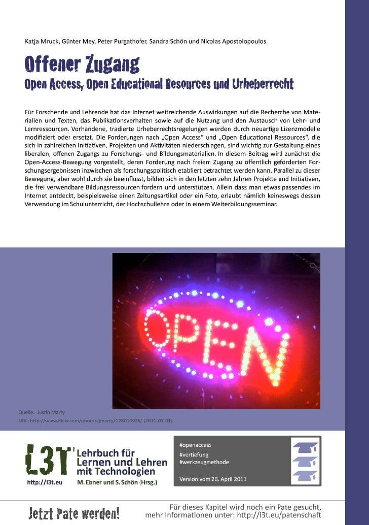 Offener Zugang - Open Access, Open Educational Resources und Urheberrecht