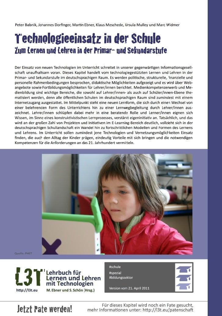 Peter Babnik, Johannes Dorfinger, MarDn Ebner, Klaus Meschede, Ursula Mulley und Marc WidmerTechnol...