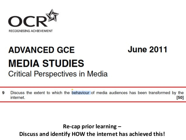 Re-cap prior learning – Discuss and identify HOW the internet has achieved this!