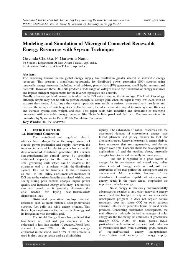 Govinda Chukka et al Int. Journal of Engineering Research and Applications ISSN : 2248-9622, Vol. 4, Issue 1( Version 2), ...