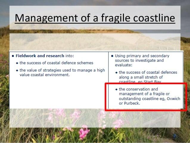 Management of a fragile coastline
