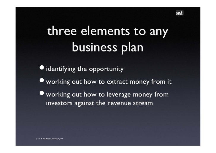 Any business plan