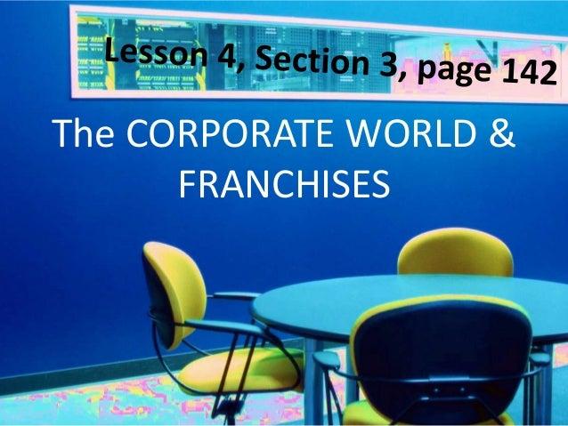 Corporations & Franchises Lesson 4