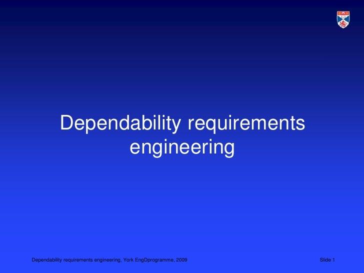 L5 Dependability Requirements