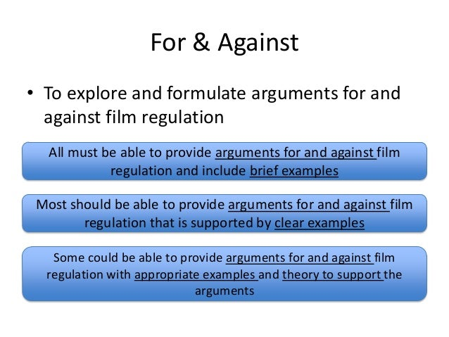 Arguments for and against media regulation