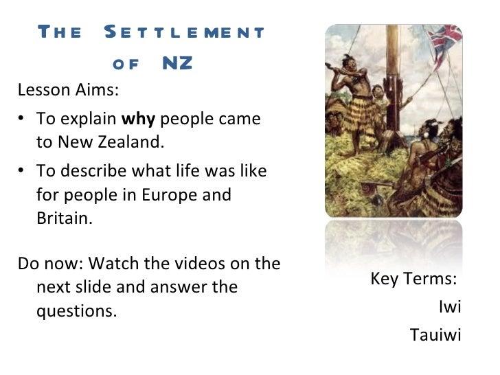 L5 The Settlement of NZ