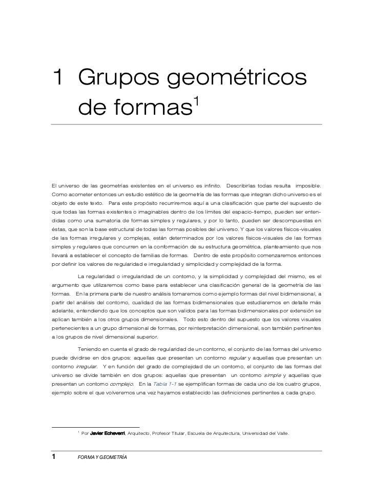 Grupos geométricos de formas