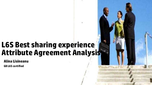 L6S Best sharing experienceAttribute Agreement AnalysisAlina LisineanuGB L6S certified