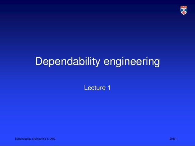 CS 5032 L7 dependability engineering 2013
