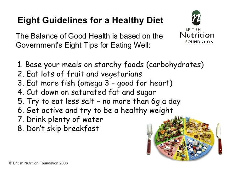 government guidelines for child nutrition Healthy eating guidelines that can help you make healthy choices and model  healthy behaviours for your child.