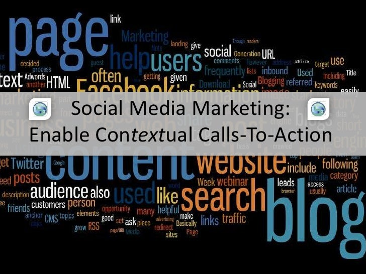 Social Media Marketing: <br />Enable Contextual Calls-To-Action<br />Find Us On<br />