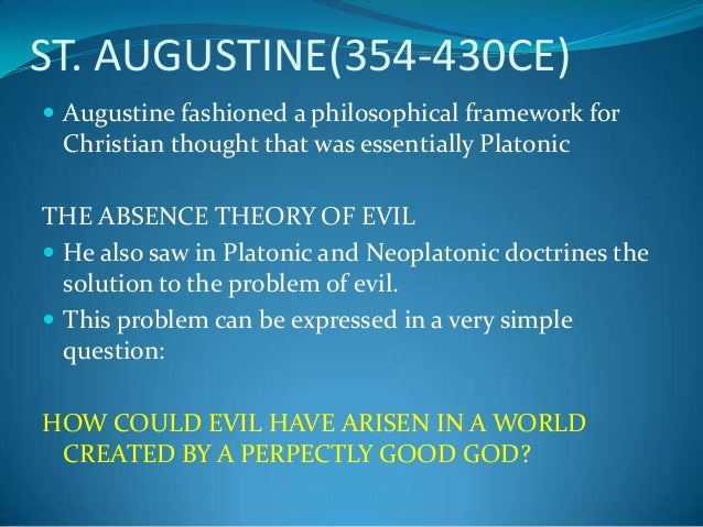 christian worldview perspective on the problem of evil philosophy essay Check out our my worldview essay best custom writing service  since the beginning of this course, i have adopted a wider perspective of the worldview which strikes a balance between the christian world view and philosophical worldview this is because the two converge at the point.