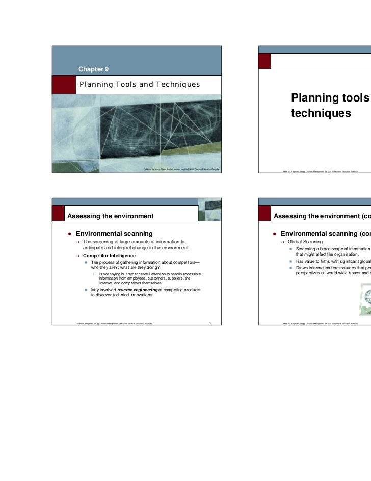 L9 planning tools and techniques 1 Planning tools