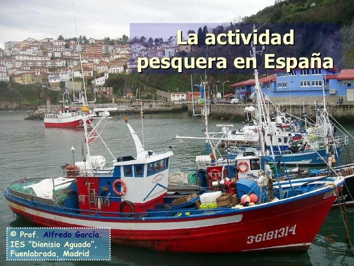 """La actividad pesquera en España © Prof.   Alfredo García . IES """"Dionisio Aguado"""", Fuenlabrada, Madrid"""