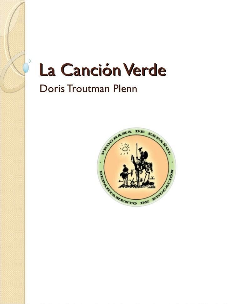 La Canción Verde Doris Troutman Plenn