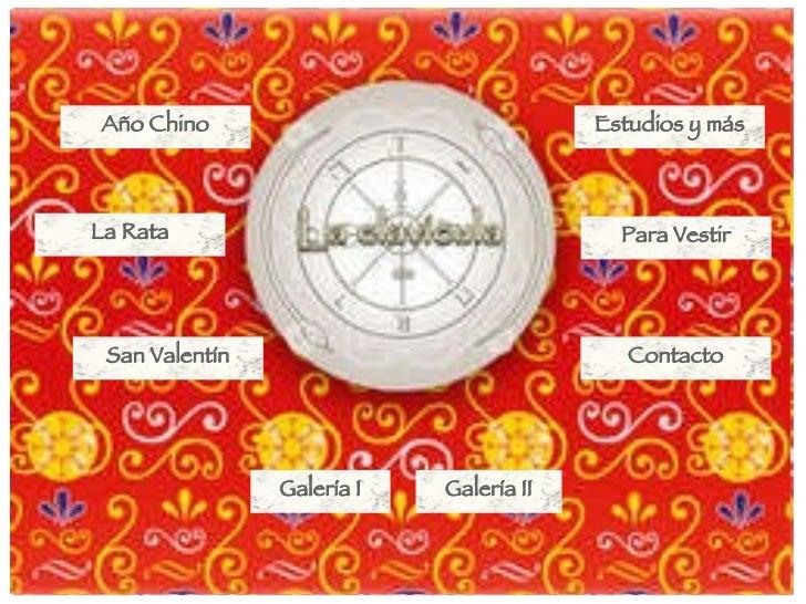 Año Chino Estudios y más La Rata Galería I Para Vestir Galería II San Valentín Contacto