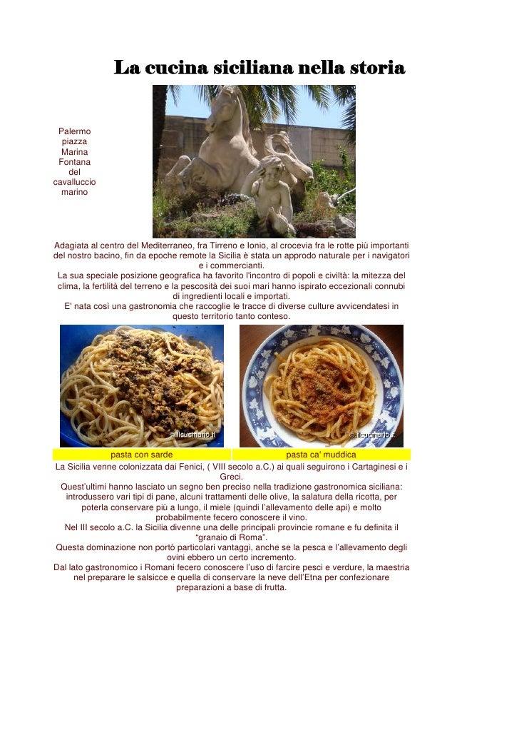 La Cucina Siciliana Nella Storia