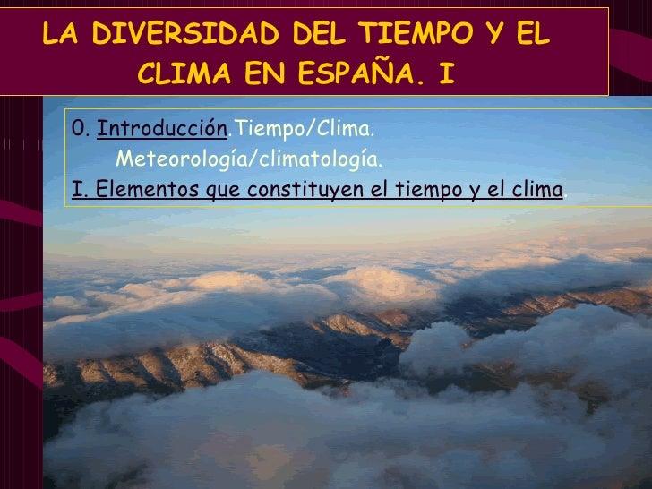 Tiempo y clima en España I. Elementos