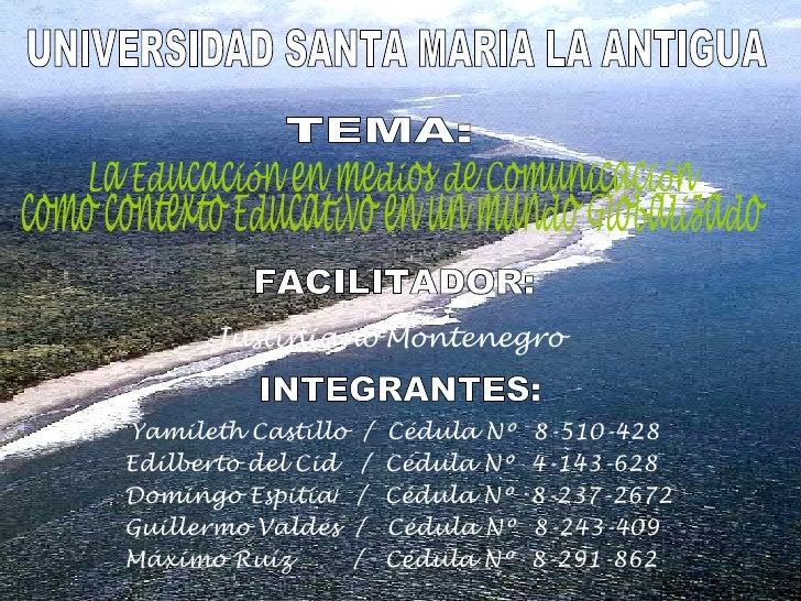 Yamileth Castillo  /  Cédula Nº  8-510-428 Edilberto del Cid  /  Cédula Nº  4-143-628 Domingo Espitia /  /  Cédula Nº  8-2...