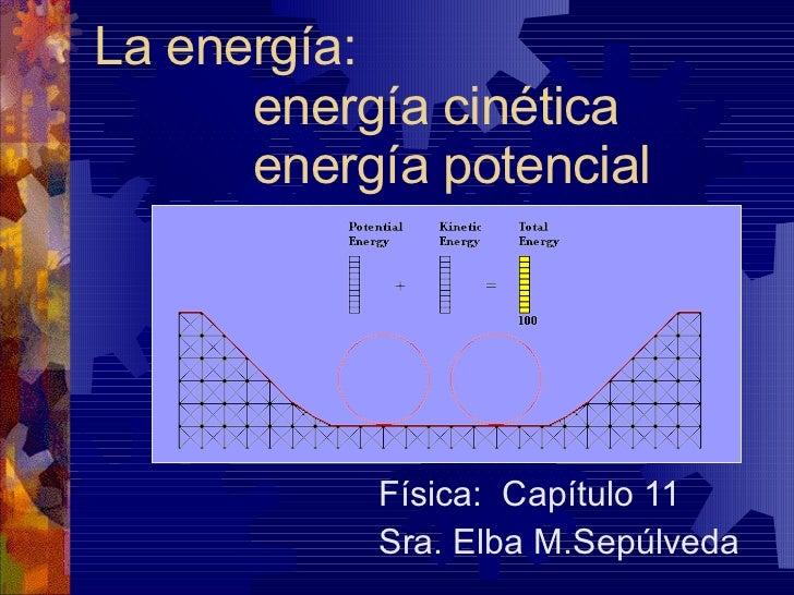 La energía: energía cinética energía potencial Física:  Capítulo 11 Sra. Elba M.Sepúlveda