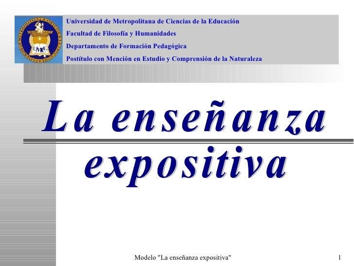 Universidad de Metropolitana de Ciencias de la Educación Facultad de Filosofía y Humanidades Departamento de Formación Ped...