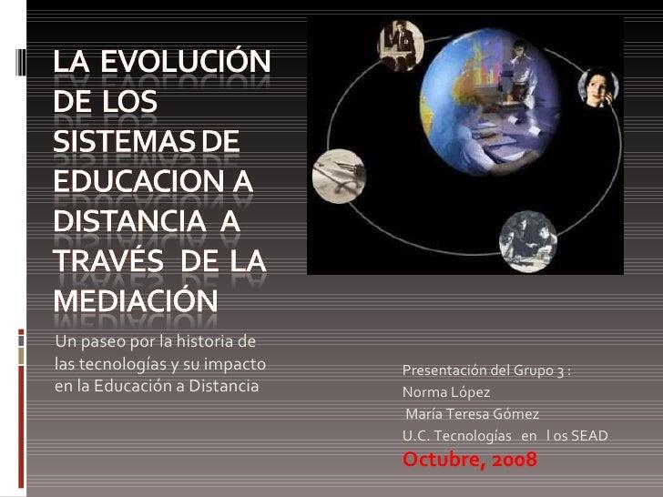 La Evolución De La Educacion A Distancia A Través De La Mediación