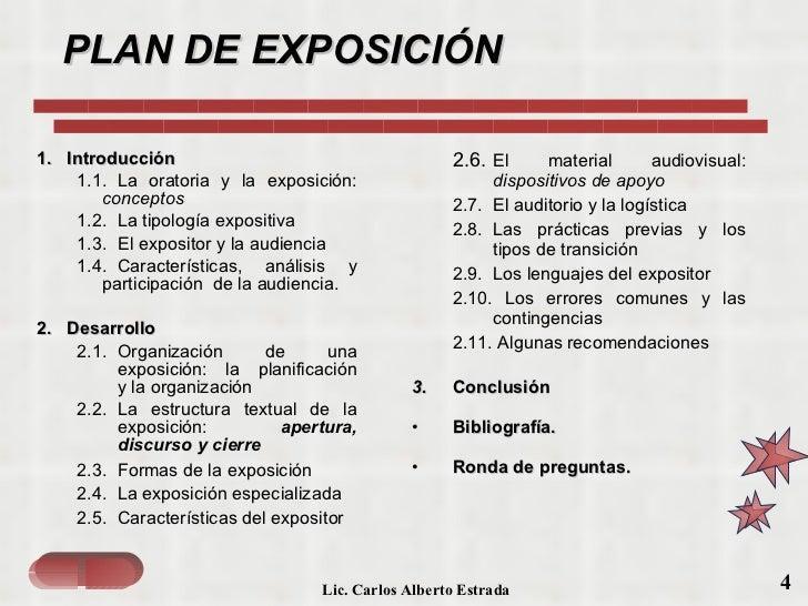 La exposici n y el material audiovisual for Pasos para realizar una exposicion