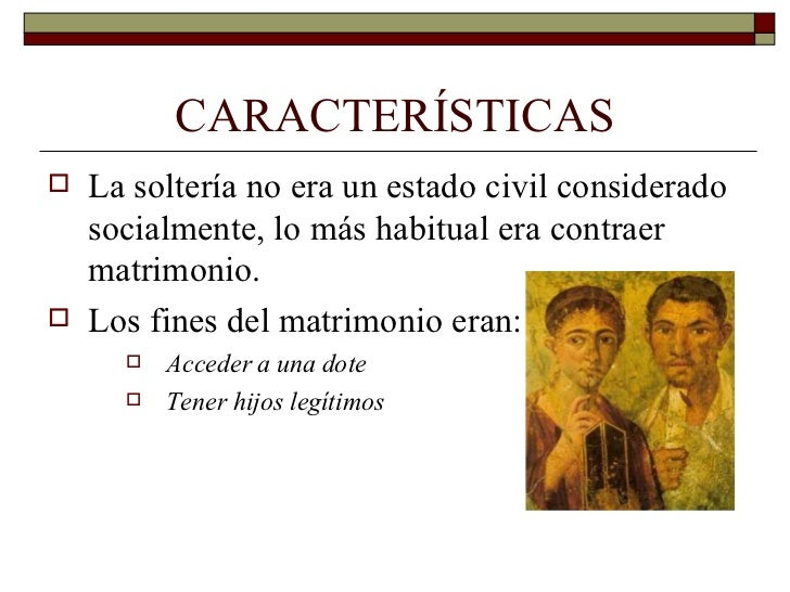 Matrimonio Romano Requisitos : La familia romana