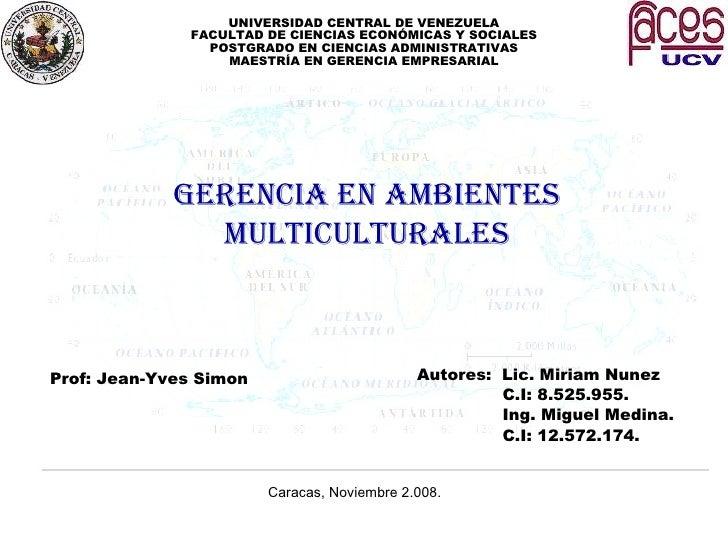 La GestióN De La Diversidad Equipos De Proyectos Transnacional