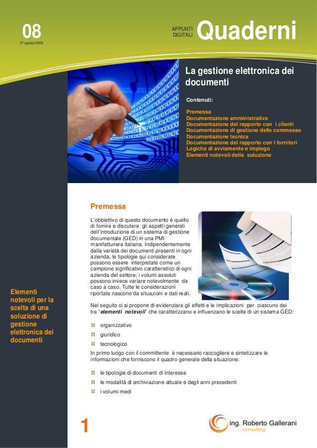 La gestione elettronica dei documenti
