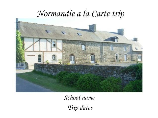 French school trip from Gormandize à la Carte