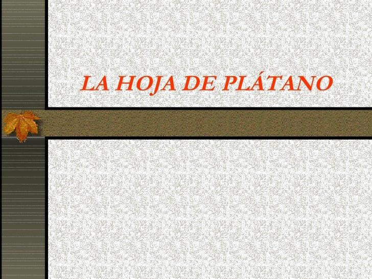 LA HOJA DE PLÁTANO
